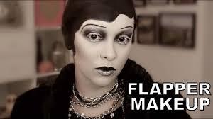 y flapper makeup halloween