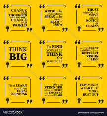 set of motivational quotes about learning thinking