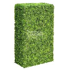 Portable Artificial Boxwood Partition Hedge 2m X 1m X 30cm Uv Stabilis Vertical Gardens Direct
