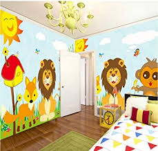 Amazon Com Custom 3d Photo Wallpaper For Kids Room Bedroom Animal Lion Monkey Bird Children Room Wall Decor Canvas Painting Mural 400x280cm 157x110in Home Improvement