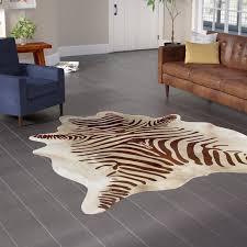 Faux Zebra Hide Rug Wayfair