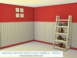 painted white wood half wall panels