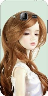dot print sad barbie doll printed back