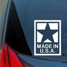 Made In Usa Vinyl Sticker Decal Car Truck America American Made Maga Patriotic Ebay