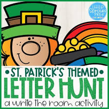 St Patrick S Letter Hunt A Write The Room Activity For Little Learners
