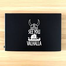 See You In Valhalla Viking Warrior Decal Sticker Car Window Decor Helmet Norse Nordic Dragon Ship Laptop Decals Decoration Leather Bag