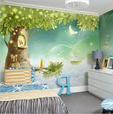 High Quality 3d Cartoon Fairies In Tree House Forest Wallpaper For Kids Custom Wall Mural For Children Fa Kids Room Murals Kids Room Wallpaper Kid Room Decor