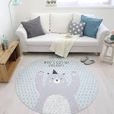 Deer Elk Animal Print Round Rugs And Carpet Kids Room Computer Chair Floor Mat Bedside Rugs Kids Play Mat Tapetes Para Casa Sala Rug Aliexpress