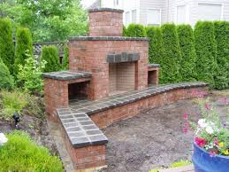 red brick outdoor fireplace red brick