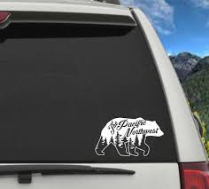 Pnw Bear Decal Pacific Northwest Decal Car Decal Pnw Decal Etsy