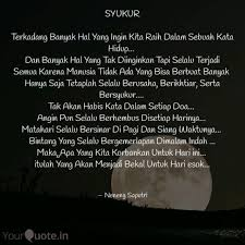 syukur terkadang banyak quotes writings by neneng saputri