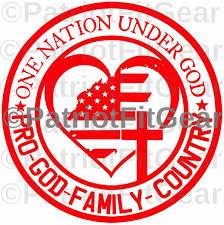 One Nation Under God Pro God Pro Family Pro Country Sticker 5 3 X5 3 Vinyl Decal