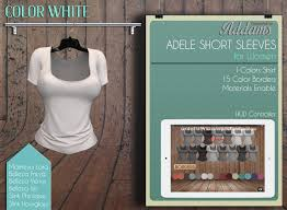 Second Life Marketplace - Addams Womens Short Sleeve Shirt ...