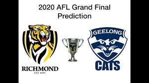 2020 AFL Grand Final Prediction