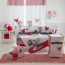 red minnie mouse crib bedding set