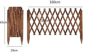 Zl Wooden Expanding Portable Fence For Outdoor Expandable Garden Trellis Plant Support Willow Lattice Fence Panel For Climbing Plants Brown Size 38cmx160cm Amazon Co Uk Kitchen Home