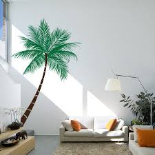 Queen Palm Tree Wall Decal Sticker Nursery Wall Decals Tree Wall Decals Living Room Beach Wall Decals