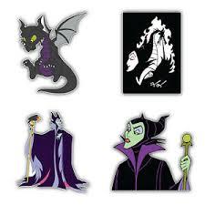 Maleficent Cartoon Set Of 4 Vinyl Sticker Decal 5 Longer Side Id 3 Ebay
