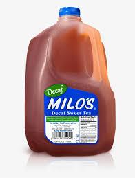 milos decaf sweet tea free