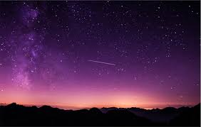 shooting stars in purple sky hd nature