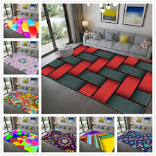 New Red Grey Plaid Geometric 3d Printing Carpets For Living Room Bedroom Area Rugs Kids Room Play Floor Rug Child Baby Crawl Mat Office Carpet Prices Car Pets From Copy03 21 86 Dhgate Com
