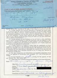 Naura (Norah) Hayden - Document Signed 12/14/1954   HistoryForSale Item  282292