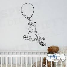 Winnie The Pooh Piglet Balloon Wall Decal Sticker Nursery Etsy