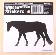 Western Pleasure Black And White Horse Window Sticker Decal