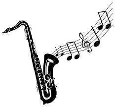 Saxophone Wall Sticker 44 X47 Contemporary Wall Decals By Masquevinilo