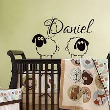 Cute Sheep With Personalized Name Wall Sticker For Kids Room Boy Nursery Decor Custom Name Vinyl Sticker Child Room Decal S 422 Stickers Children Children Roomvinyl Stickers Aliexpress