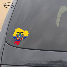 Hotmeini Car Styling Ecuador Map Flag Car Sticker Silhouette For Bumper Helmet Laptop Door Waterproof Accessories 13cmx11 7cm Car Stickers Aliexpress