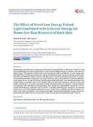 novel low energy pulsed light