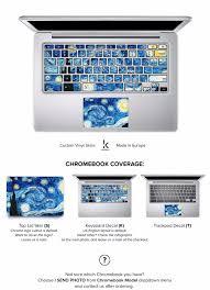 Chromebook Skin Van Gogh Starry Night Keyshorts
