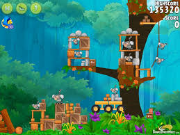 Angry Birds Rio Timber Tumble Level 7