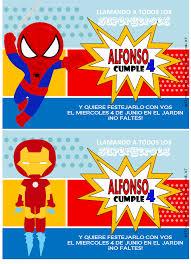 Superheroes Cumpleanos Hombre Arana Invitaciones Hombre Arana