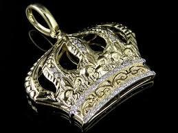 men s 10k yellow gold crown 1 25 inch