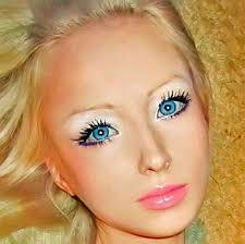 human barbie took off all her makeup
