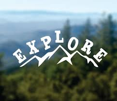 Explore Decal Mountains Vinyl Sticker Car Window Decal Laptop Decal Water Bottle Decal Phone Decal Bumper Stick Vinyl Sticker Mountain Decal Vinyl Decals