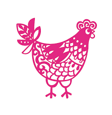 Amazon Com Custom Mother Hen Chicken Vinyl Decal Personalized Hen Sticker Pick Your Size And Color Handmade