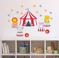 Circus Tent Animals Wall Decals Carnival Wall Decals Big Top Etsy