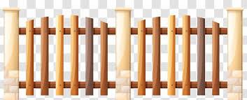 Fence Gate Illustration Wooden Cliparts Transparent Png