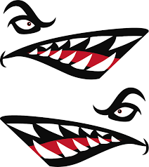 Shark Teeth Vehicle Sticker Tenstickers