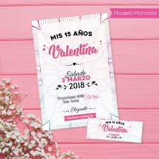20 Tarjetas Invitaciones 15 Anos Personaliz 9x13 6 5x2 5 450