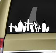 Halloween Graveyard Sticker Vinyl Decal Zombie Sticker Vampire Walking Dead 20x7cm Stickers Aliexpress