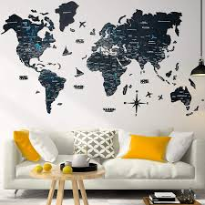 Amazon Com Wood World Map Wall Art Large Wall Decor World Travel Map All Sizes M L Xl Any Occasion Gift Idea Wall Art For Home Kitchen Or Office Handmade