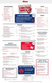 Jack's Lobster Shack & Oyster Bar menu ...