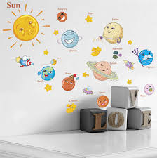 Nursery Kids Room Wall Decal Solar System Kneebees