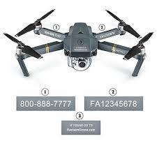 Drone Registration Number Decals Labels Faa Uas Compliant Mavic Pro Shown Ebay