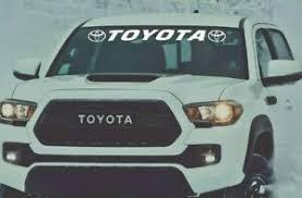 Window Decal Toyota Tacoma Tundra Vinyl Graphics 4runner Windshield Sticker Ebay