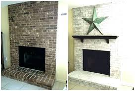 whitewash brick fireplace alsasserin co